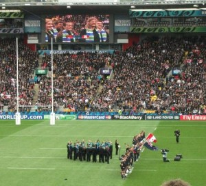 NZCF Choirs at Rugby World Cup matches in 2011 in New Zealand